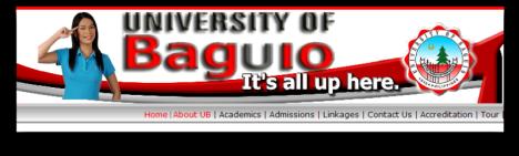 Univerisity of Baguio site